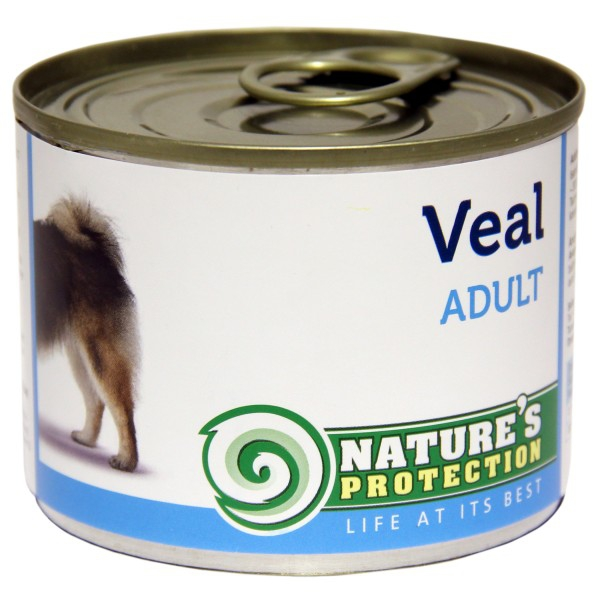Natures Protection Can Dog Adult Veal 200g