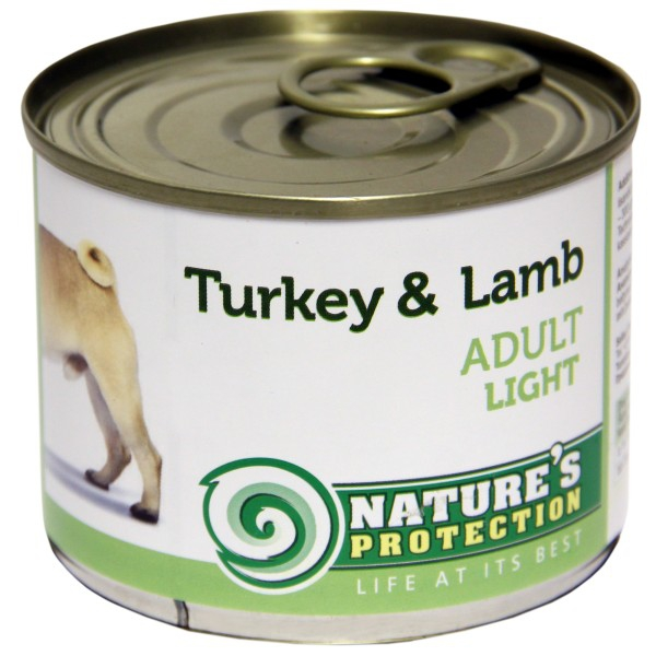 Nature's Protection Can Dog Adult Light Turkey&Lamb 200g