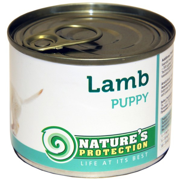 Natures Protection Can Dog Puppy Lamb 200g