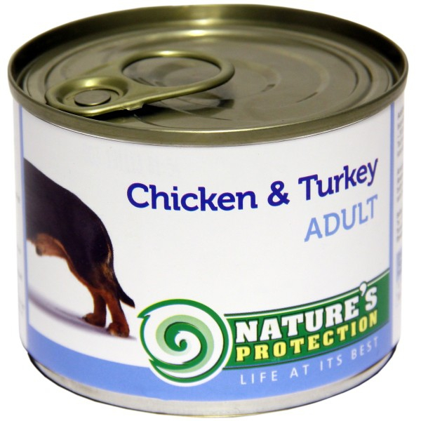 Natures Protection Can Dog Adult Chicken&Turkey 400 g