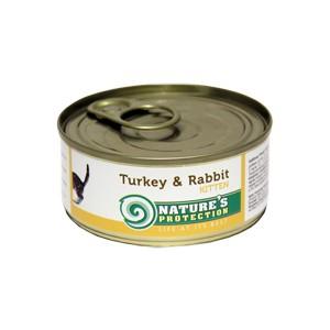 Natures Protection Can Cat Kitten Turkey&Rabbit 400 g