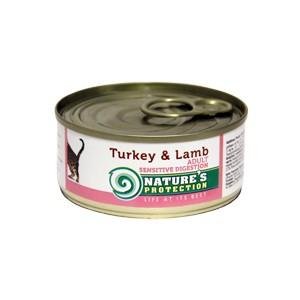 Natures Protection Can Cat Sensitive Digestion Turkey&Lamb 400 g