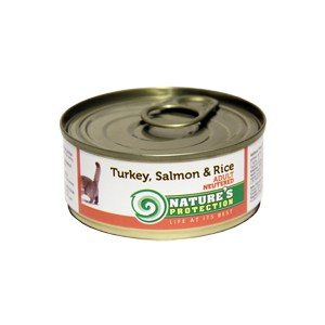 Natures Protection Can Cat Neutered Turkey, Salmon&Rice 400 g