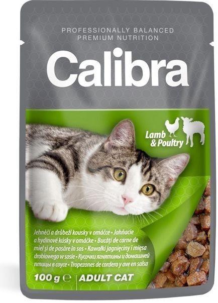 Calibra Cat kapsa jehněčí a drůbeží v omáčce 100g