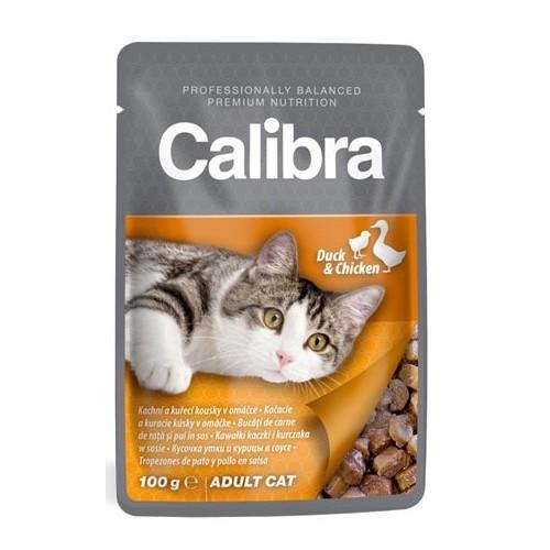 Calibra cat 100g kapsa kachní a kuřecí kousky v omáčce