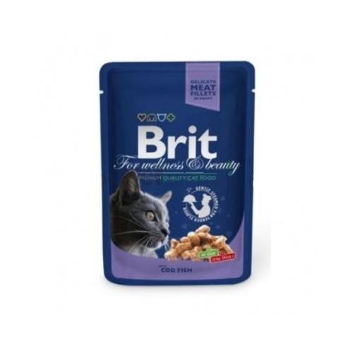 Brit premium 100g cat kapsička cod fish v omáčce