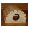 Domek křeček iglu dřevěný, přírodní