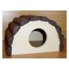 Domek křeček iglu dřevěný, hnědý