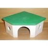 Domek křeček rohový dřevěný, zelený