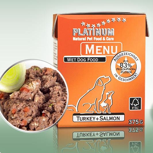 PLATINUM Natural Menu krocan + losos 375g