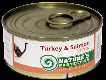 Natures Protection Kitten Turkey Salmon 100g for cat