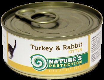 Natures Protection Kitten Turkey Rabbit 100g for cat