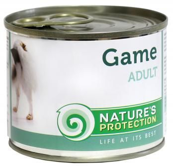 Natures Protection Can Dog Adult Game (Wild) 200 g