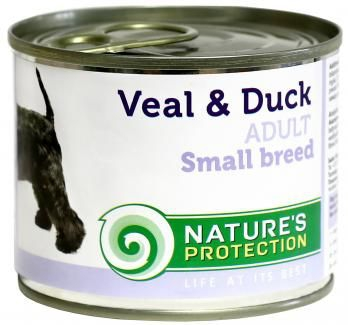 Natures Protection Adult Small Breeds Veal Duck 200g