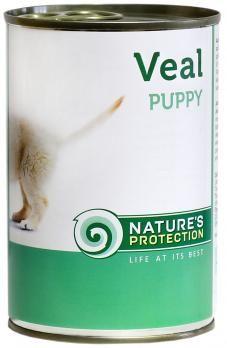 Natures Protection Puppy Veal 400g konzerva