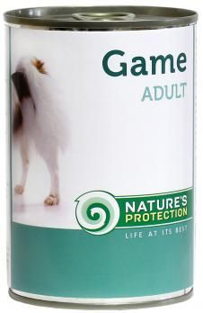 Natures Protection Can Dog Adult Game (Wild) 400 g