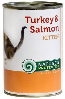 Natures Protection Can Cat Kitten Turkey&Salmon 400 g