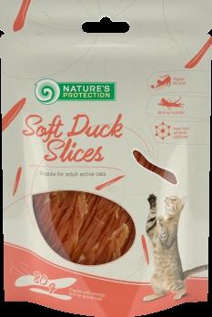 Natures Protection snack cat kachní prsa proužky 80g