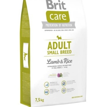 Brit Care Dog Adult Small Breed Lamb & Rice 7,5kg NEW