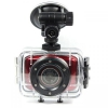 Sportovní kamera dotyková SPORT CAM HD 720p, ČERVENÁ