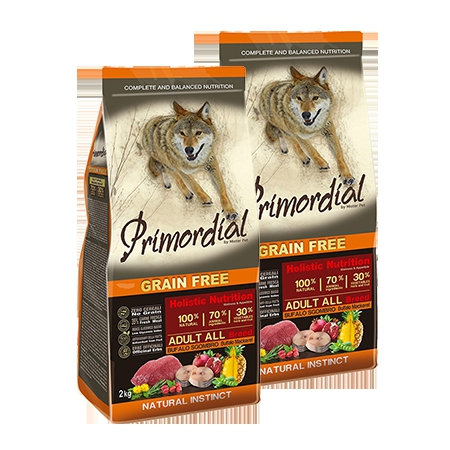 Primordial Grain Free Adult Buffalo and Mackerel 2x12kg