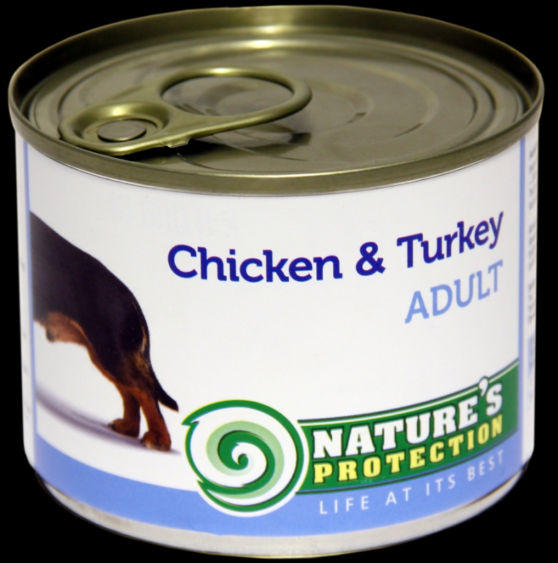 Natures Protection Can Dog Adult Chicken&Turkey 200 g