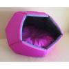 Domek s pol.Cubby Modern 60x60x44cm růžový+šedý+výšivka
