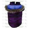 Bunda šusťák 20cm fialová kárko s kapucí
