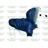 Bunda šusťák 25cm modrá kárko s kapucí