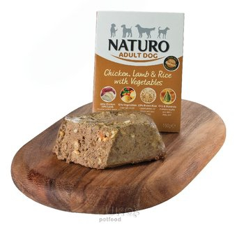 Naturo Adult Chicken, Lamb&Rice with Veget. 150g