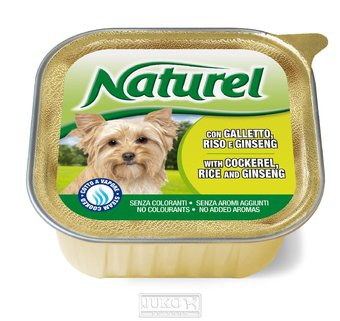 Naturel dog vanička Cockerel,Rice&Ginseng 150g