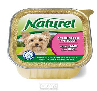 Naturel dog vanička Lamb&Veal 150g