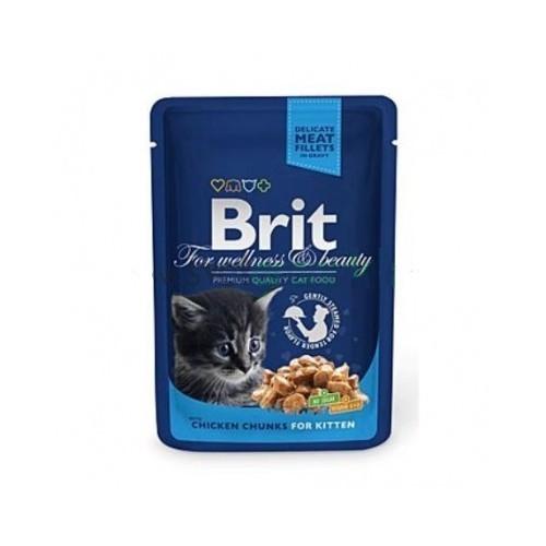 Brit premium 100g kitten kaps.chicken v omáčce
