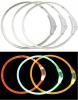 Svítící LED obojek-transparentní-M-50cm-ČERVENÁ