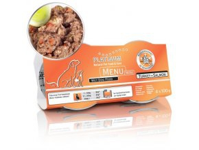 PLATINUM NATURAL MENU MINI TURKEY & SALMON - KROCAN & LOSOS 4X100G