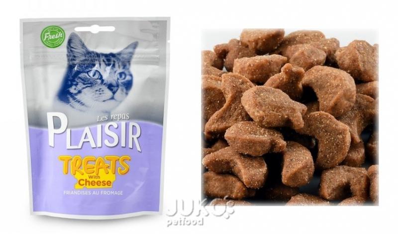 Plaisir Cat Treats pamlsek 60g se sýrem