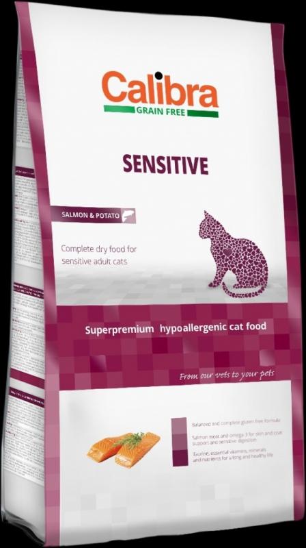 Calibra Cat GF Sensitive Salmon NOVÝ 7 kg