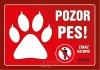 samolepka-Pozor Pes - TLAPKA - POZOR PES