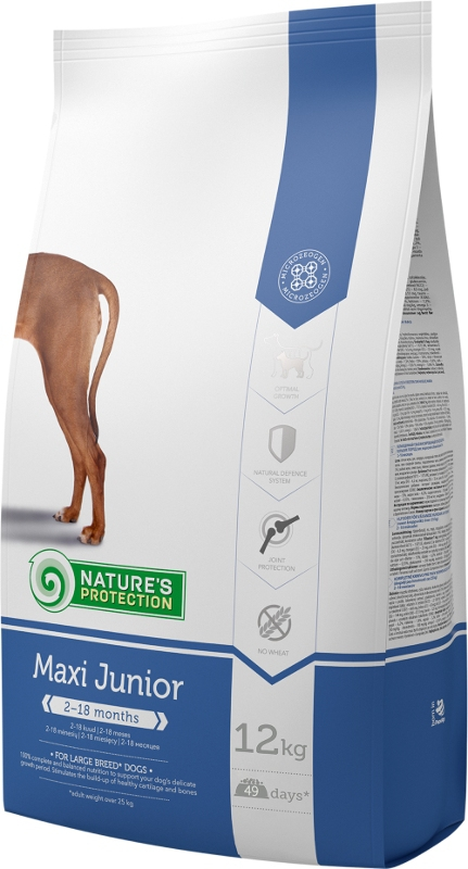 Nature's Protection Dog Dry Junior Maxi 2 x 12 kg