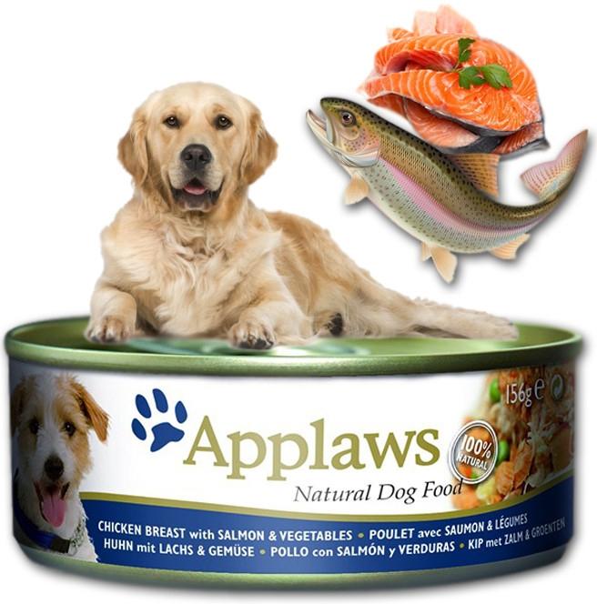 Applaws Dog konz. kuře, losos a zelenina 156 g