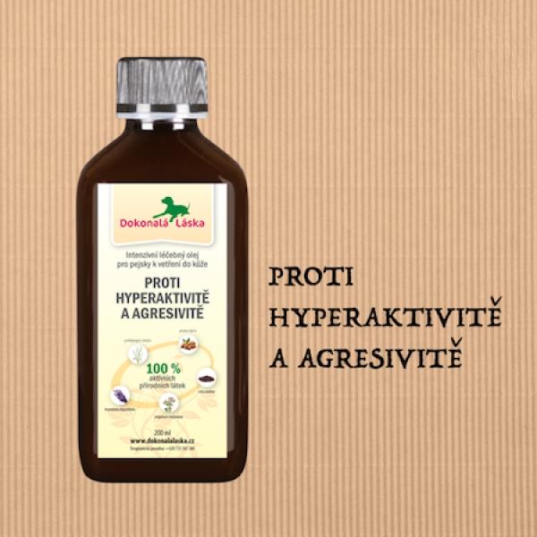 Proti hyperaktivitě a agresivitě - 200 ml olej k vetření pro pejsky