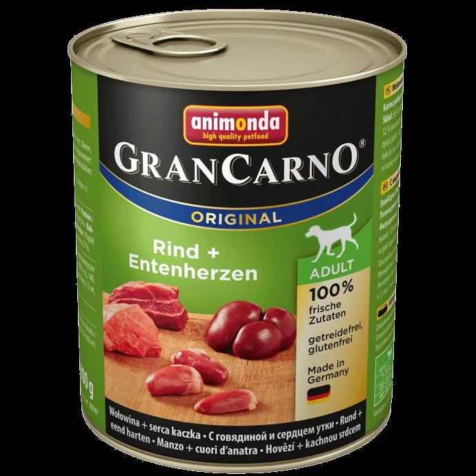 Animonda GranCarno dog konz.- hovězí, kachní srdce 800 g