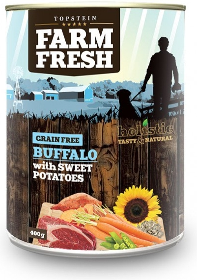 Topstein Farm Fresch Buffalo with Sweet Potato 800 g