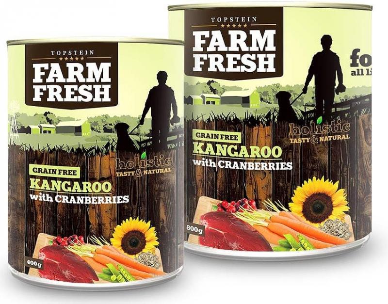 Topstein Farm Fresh klokan & brusinky 800 g