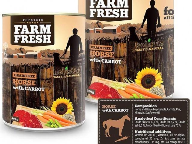 Topstein Farm Fresch HORSE & CARROT 800 g