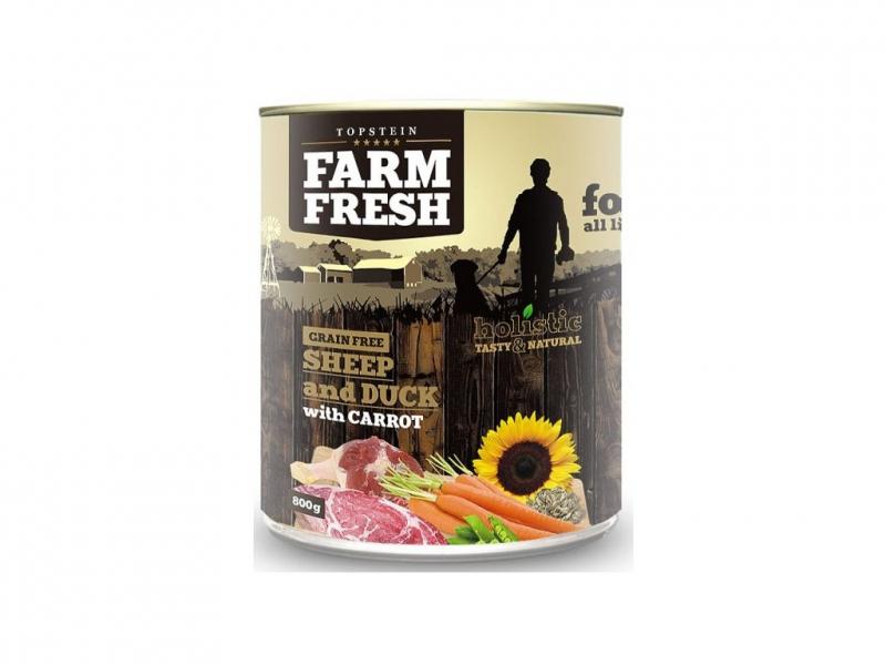Farm Fresh Ovce a kachna s mrkví 800g