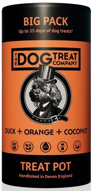 The Dog Treat Company sušenky kachna, pomeranč, kokos 125 g