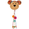 Hračka cat plyš Flamingo Indy Myška hlava s korálky a šantou