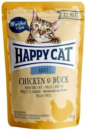 Happy Cat Kapsička ALL MEAT Adult Huhn & Ente 85 g
