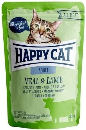 Happy Cat Kapsička ALL MEAT Adult Kalb & Lamm 85 g